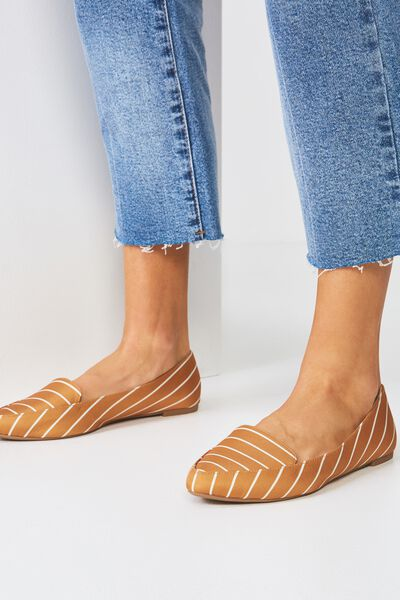 Peta Point Loafer, MUSTARD STRIPE