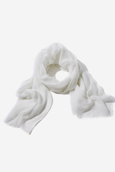 Lily Light Weight Scarf, WHITE