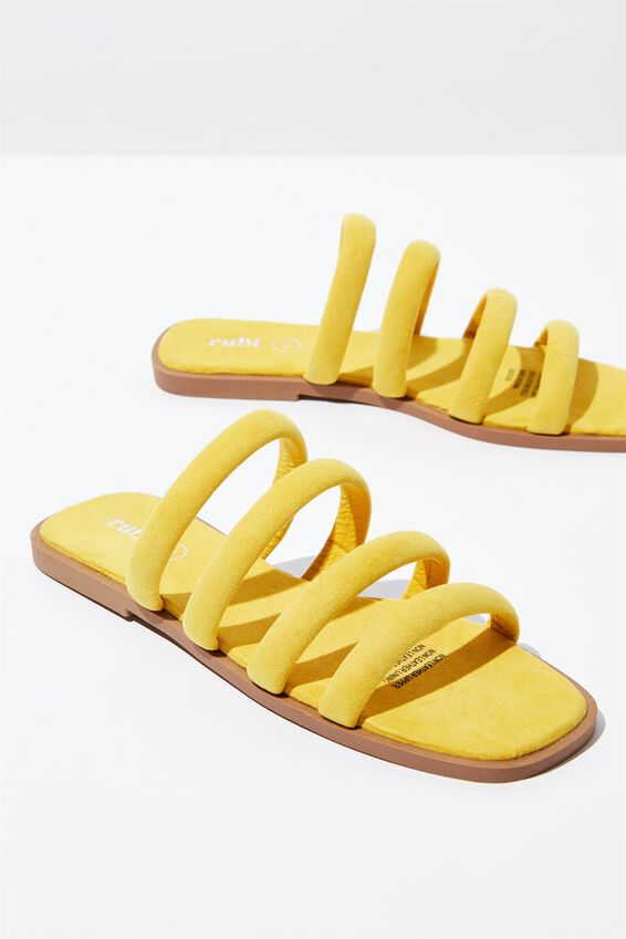 Chole Strappy Sandal, SUNSHINE YELLOW MICRO