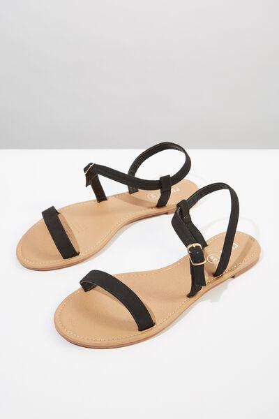 Everyday Bella Wrap Sandal, BLACK NUBUCK