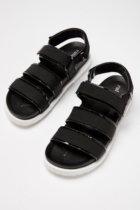 Bronte Webbing Sporty Sandal, BLACK MULTI