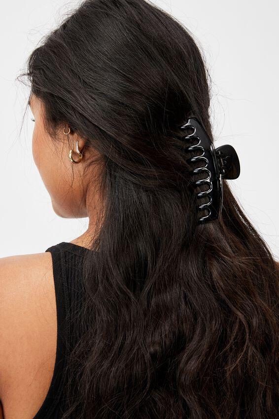 Rachel Hair Claw, BLACK