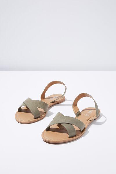 Everyday Banting Crossover Sandal, KHAKI MICRO