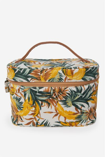 Large Structured Cosmetic Case, BANANA LEAF