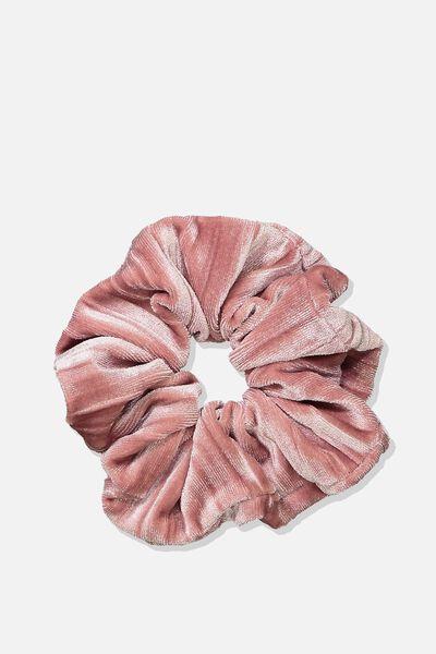 Luxe Scrunchie, BLUSH VELVET CRINKLE