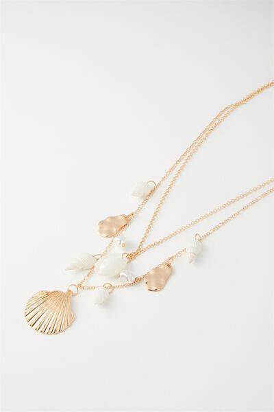 Oahu Necklace, NATURAL/PEARL