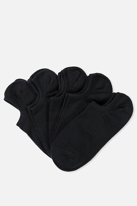 5Pk Sports Low Cut Sock, BLACK
