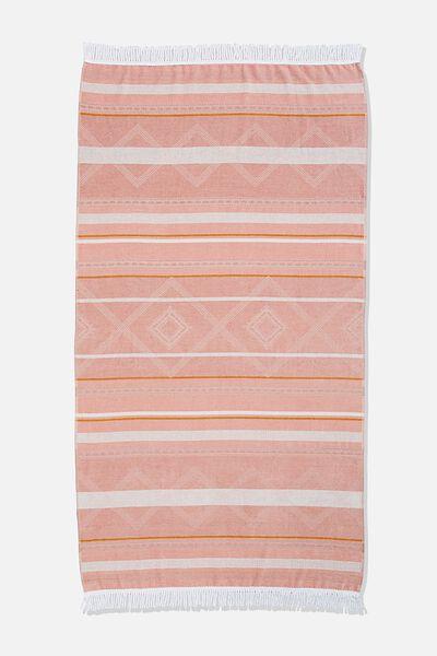Bondi Rectangle Towel, ASH ROSE AZTEC