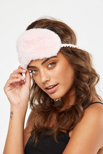 Plush Eye Mask, PARFAIT PINK
