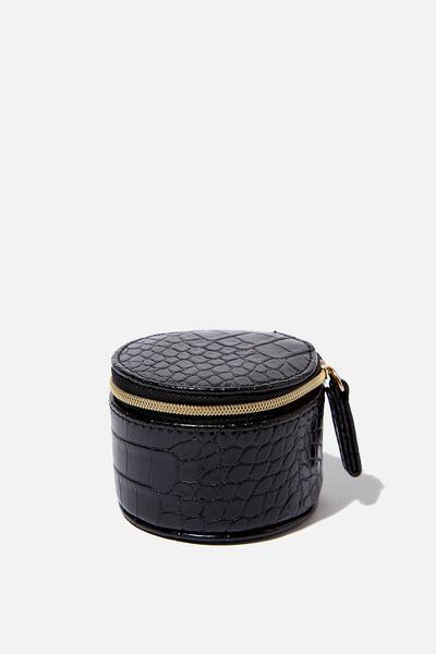 Mini Jewellery Box, BLACK CROC
