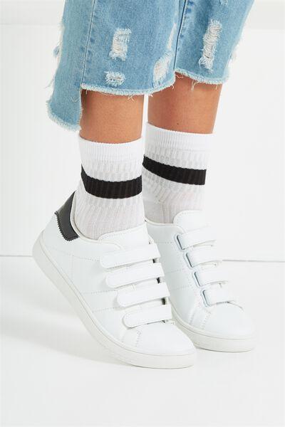 Marley Sporty Sock, WHITE