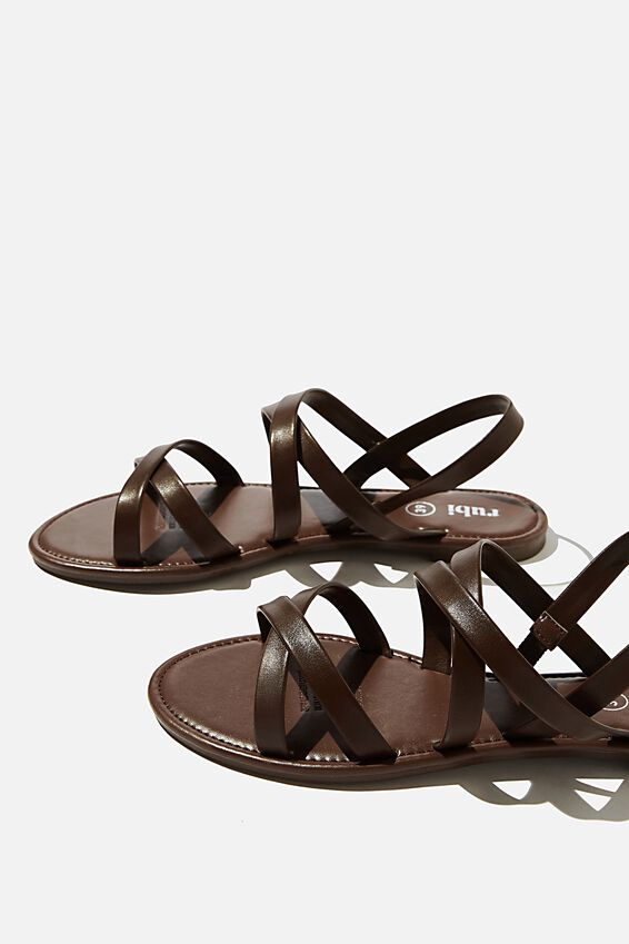 Lucy Strappy Slingback Sandal, CHOC PU