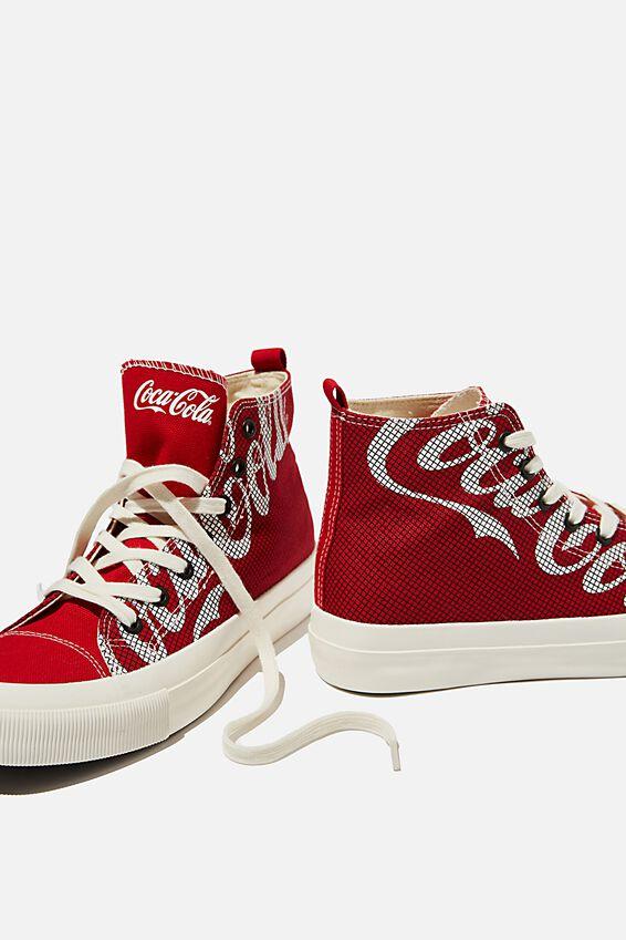 Coca Cola Britt Retro High Top, LCN COK COCA COLA CHECK
