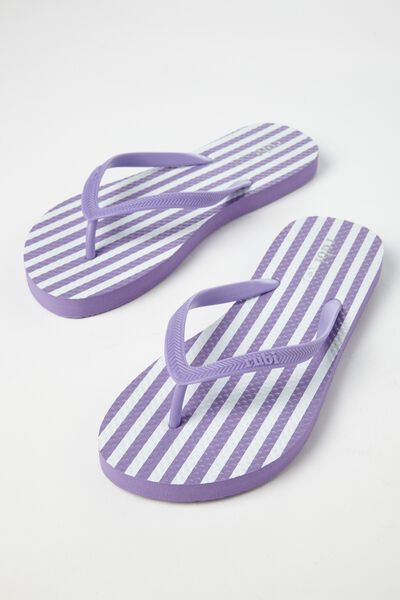 Rubi Thong, SANDY STRIPE VIOLET