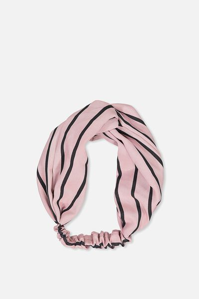 Manhattan Headband, BLUSH/BLACK STRIPE