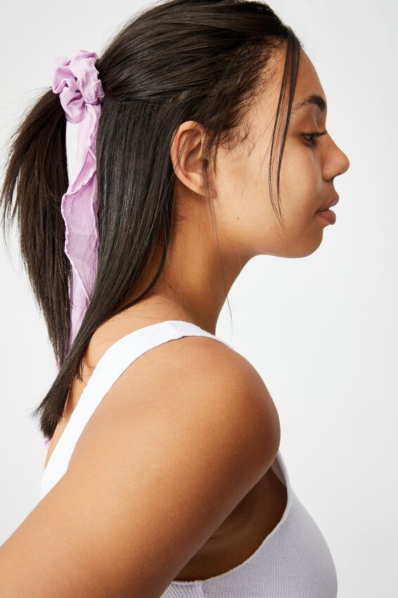 New York Convertible Scrunchie, FROSTY LILAC