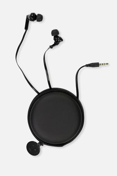 Travel Earphones, BLACK