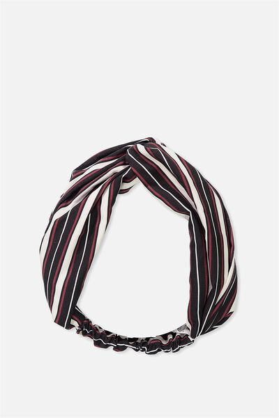 Manhattan Headband, BLACK RETRO STRIPE