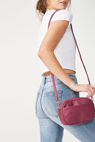 Cameron Cross Body Bag, RASPBERRY