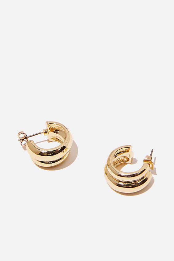 Premium Everyday Hoop, GOLD PLATED DEUX