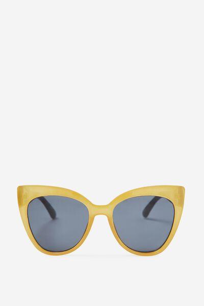 Whitney Cat Eye Sunglasses, MUSTARD/TORT