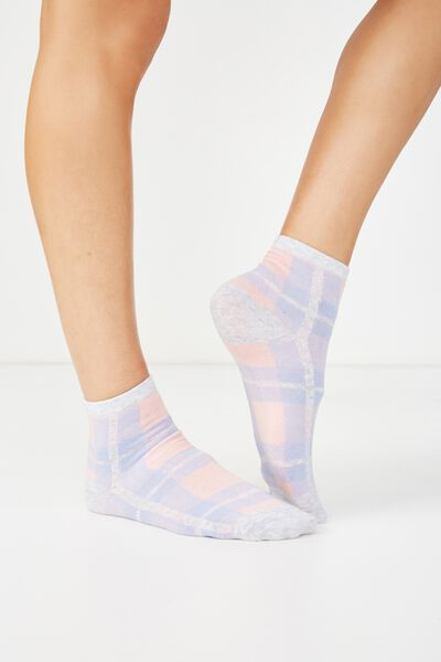 Fun Sock, WISTFUL CHECK