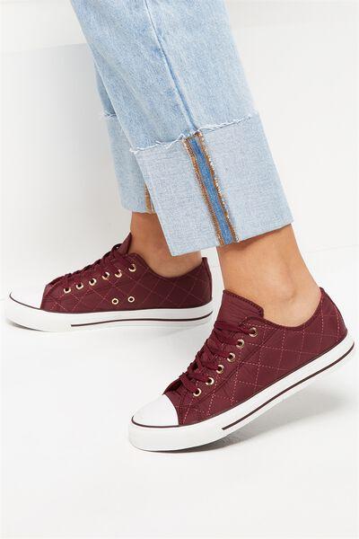 Jodi Low Rise Sneaker 1, BLACKBERRY QUILT