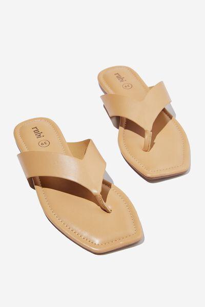 Everyday Molly Toe Post Sandal, CAMEL PU