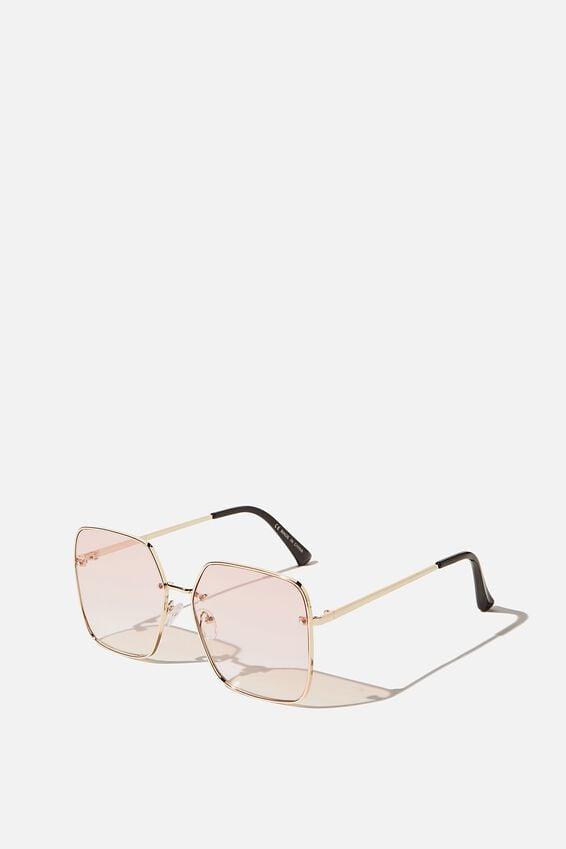 Ivy Square Sunglasses, GOLD/ROSE