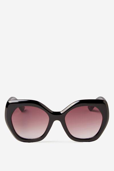 Kourtney Sunglass, BLACK/GRAD BLACK