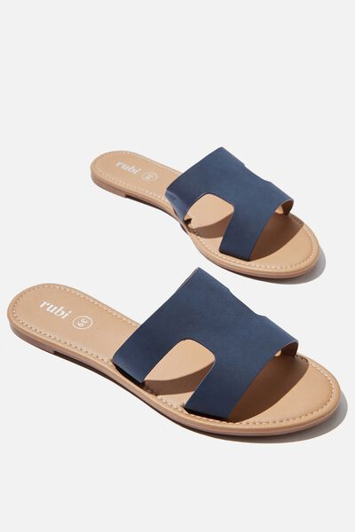 Everyday Cypress Slide, NAVY NUBUCK