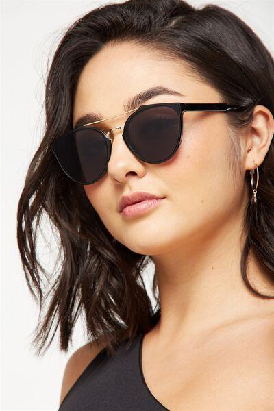 Bianca Top Bar Sunglasses, S.BLACK/SMOKE