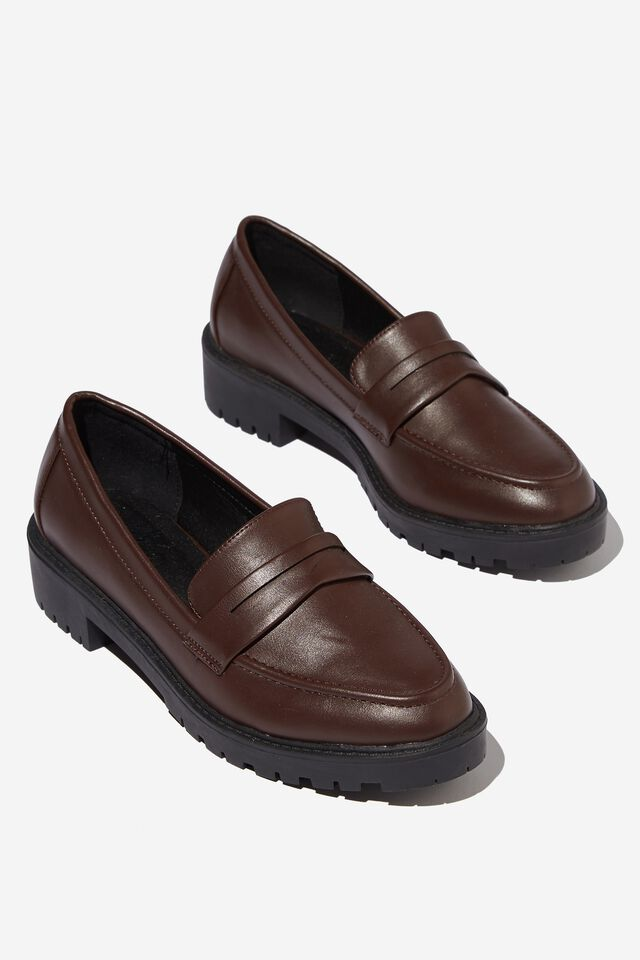 Lucy Loafer, CHOCOLATE PU