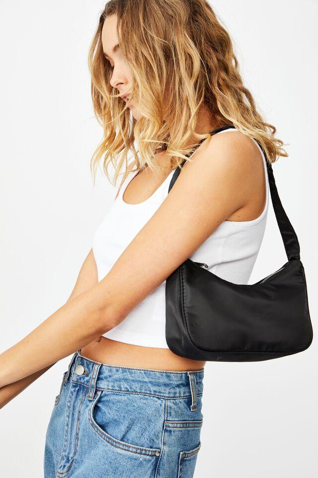 Nadia Underarm Bag, BLACK