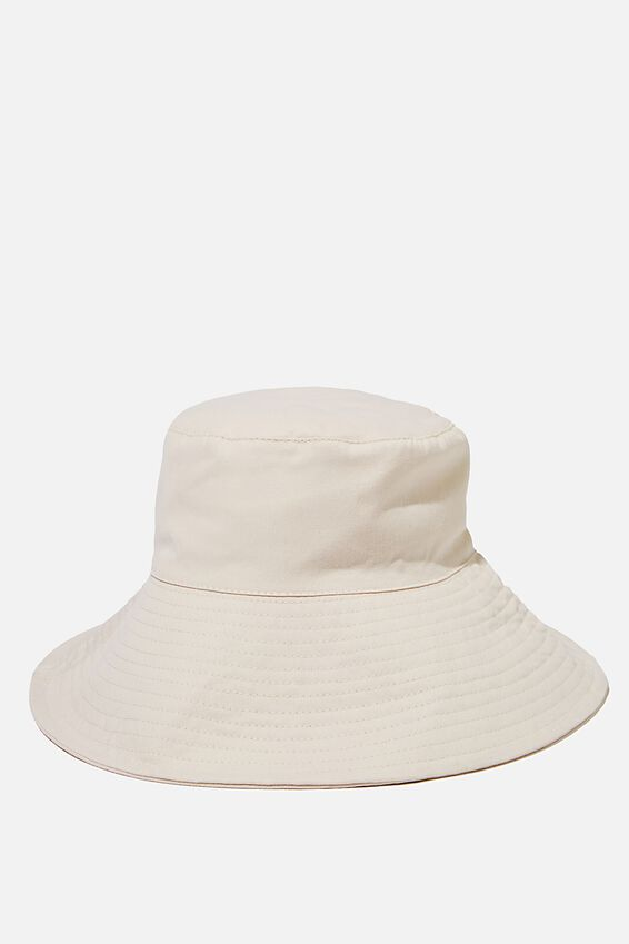 Zahra Wide Brim Sun Hat, ECRU