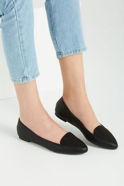 Peta Point Loafer, BLACK MULTI