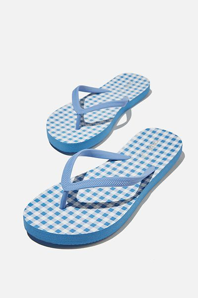 The Rubi Flip Flop, BLUE WHITE GINGHAM