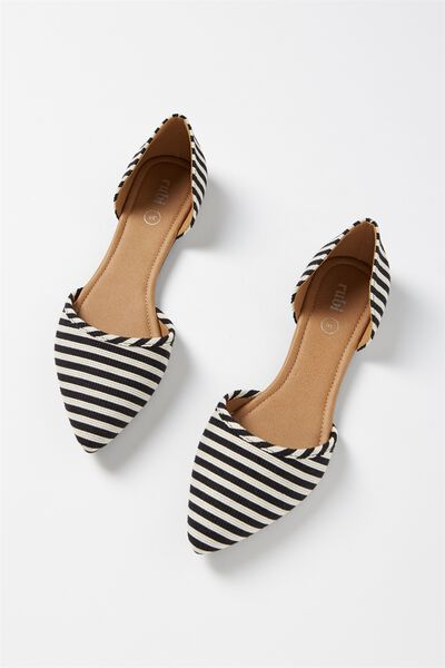 Bobbi Cut Out Point, MONO WOVEN STRIPE