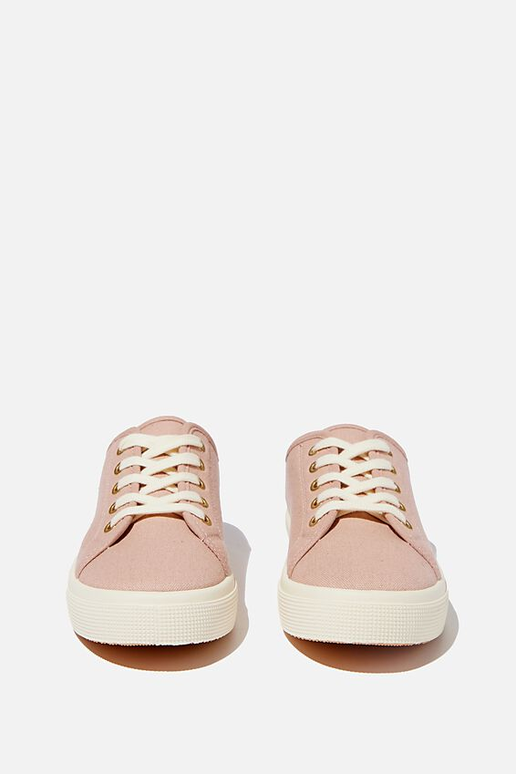 Lisa Lace Up Plimsoll, CAMEO ROSE
