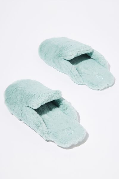 Poppy Slipper Scuff, DIRTY MINT