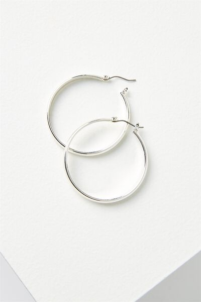 Sherry Core Hoop Statement Earring, SILVER