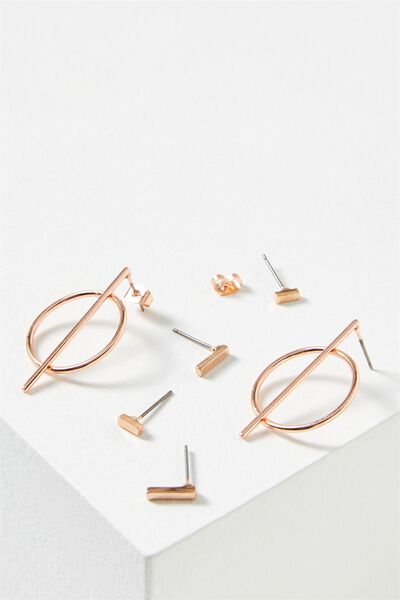 Rachael Core Stud Pack, ROSE GOLD