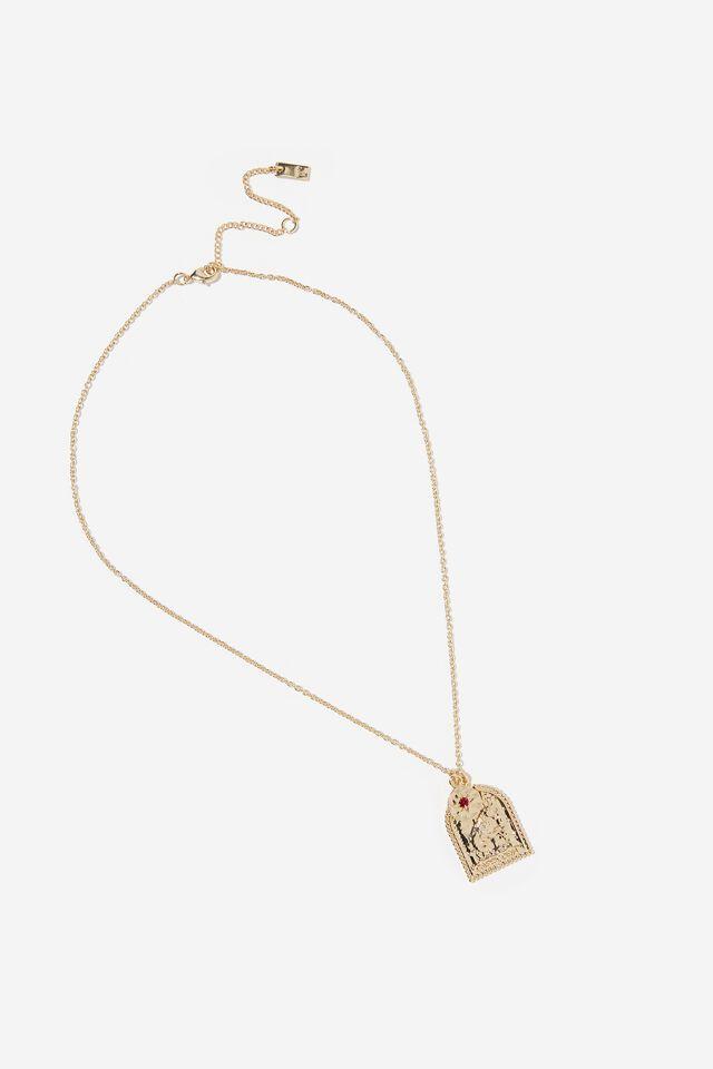 Premium Zodiac Necklace, GOLD PLATED CAPRICORN
