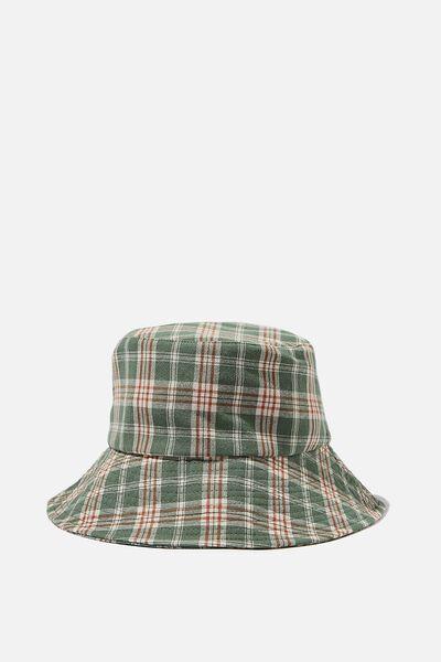 Bianca Bucket Hat, PISTACHIO GREEN CHECK