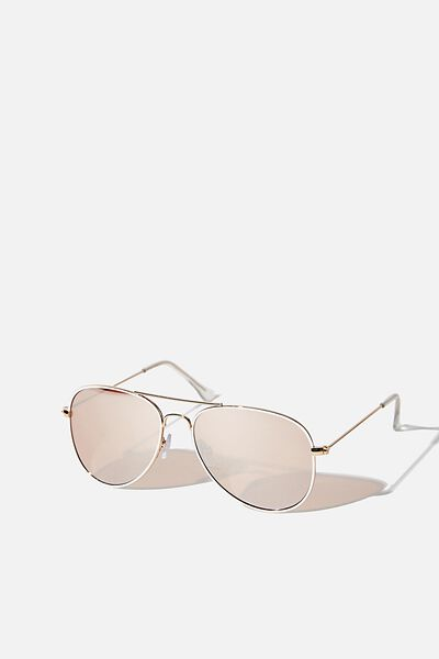 Arabella Metal Sunglasses, ROSE