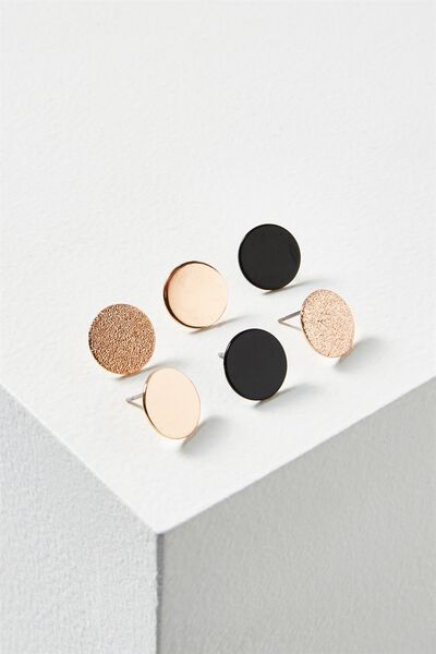 Claire Core Stud Pack, ROSE GOLD