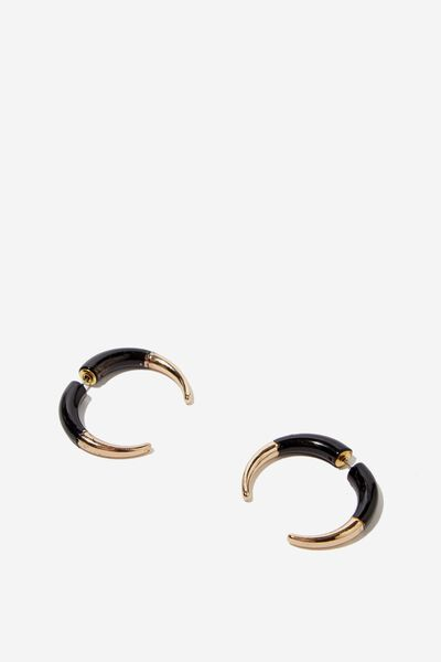Utah Western Earring, GOLD/BLACK