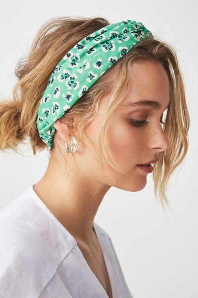 Manhattan Headband, POISON GREEN ISABEL FLORAL