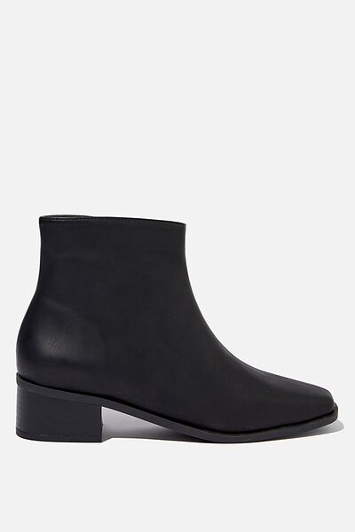Downtown Ankle Boot, BLACK SMOOTH