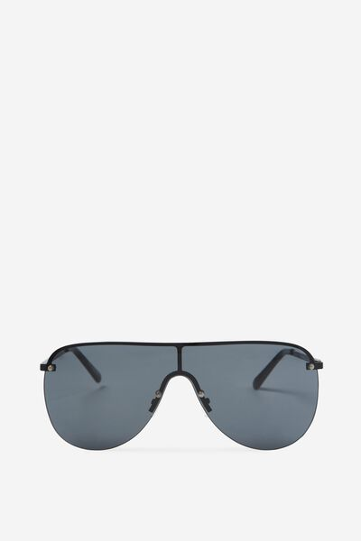 Sophie Shield Sunglasses, BLACK/MONO